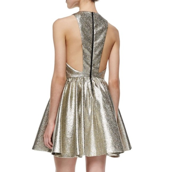 Alice + Olivia Dresses & Skirts - Alice and Olivia metallic gold Tevin dress